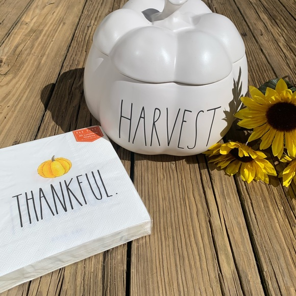Rae Dunn Other - New Rae Dunn Large Pumpkin Canister and Napkins